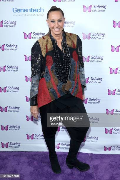 Designer Donna Karan attends the Solving Kids' Cancer Spring Celebration 10 Years Of Hope And Healing at Mandarin Oriental New York on May 10 2017 in...