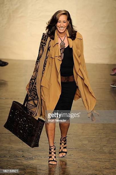Designer Donna Karan walks the runway at the Donna Karan New York fashion show during MercedesBenz Fashion Week Spring 2014 on September 9 2013 in...