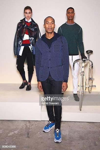Designer Donrad Duncan attends the EFM Autumn/Winter 2016 Men's Presentation at Skylight at Clarkson Sq on February 2, 2016 in New York City.