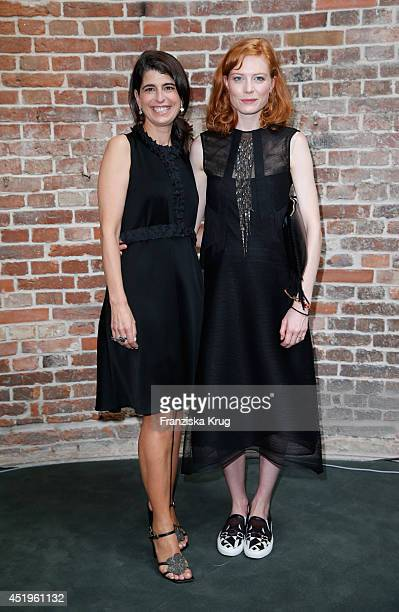 Designer Dorothee Schumacher and Jessica Joffe pose after the Schumacher show during the MercedesBenz Fashion Week Spring/Summer 2015 at Sankt...