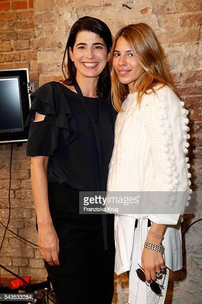 Designer Dorothee Schumacher and Maja Wyh attend the Dorothee Schumacher show during the MercedesBenz Fashion Week Berlin Spring/Summer 2017 at...