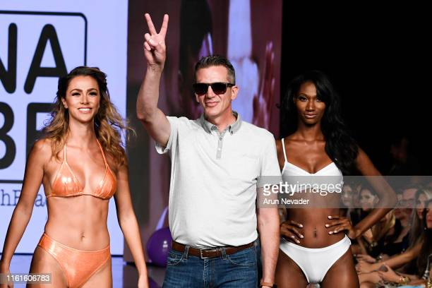 Designer Doug Barry walks the runway for NASH BEACH At Miami Swim Week Powered By Art Hearts Fashion Swim/Resort 2019/20 at Faena Forum on July 11,...