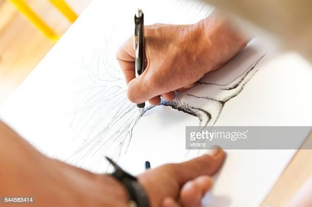 デザイナーの描出