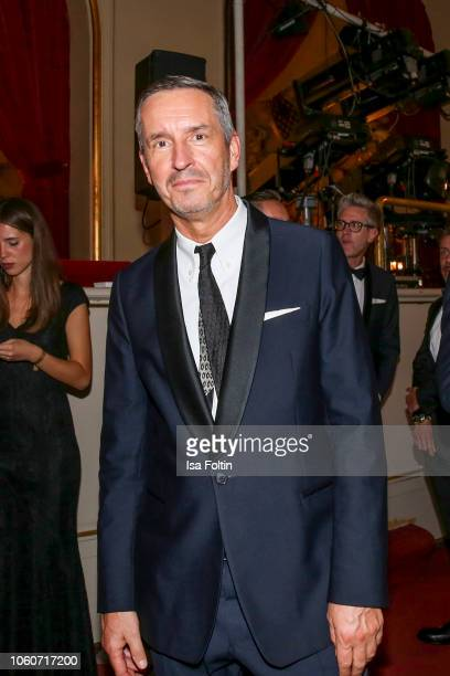Designer Dries Van Noten attends the GQ Men of the Year Award after show party at Komische Oper on November 8, 2018 in Berlin, Germany.