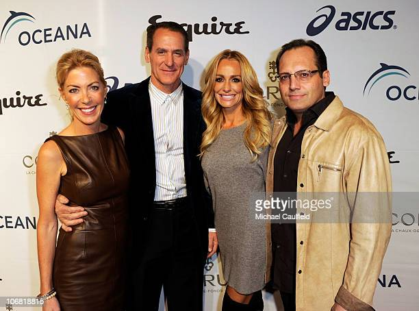 Designer Elaine Culotti and TV personalities Taylor Armstrong and Russell Armstrong attend the Oceana Benefit hosted by Equire House LA held at...