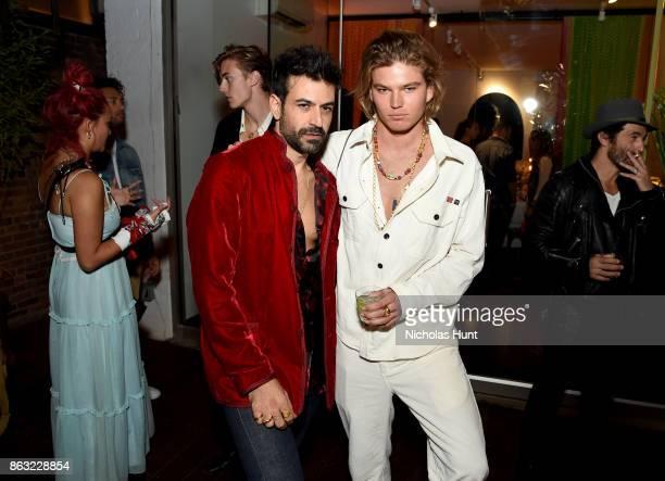 Designer Eli Halili and model Jordan Barrett attend A Night With Eli Halili on October 19 2017 in New York City