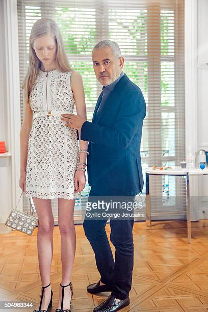 Designer Elie Saab is photographed for Self Assignment on October 2 2015 in Paris France