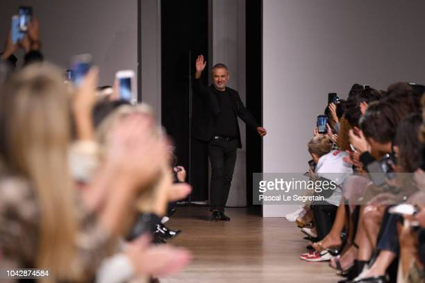 Designer Elie Saab walks the runway during the Elie Saab show as part of the Paris Fashion Week Womenswear Spring/Summer 2019 on September 29 2018 in...