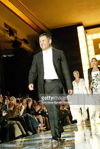 Designer Elie Saab with Models during 2004 Paris Fashion Week Eli Saab Haute Couture Fall/Winter 2004 Runway at Chaillot Theater in Paris France