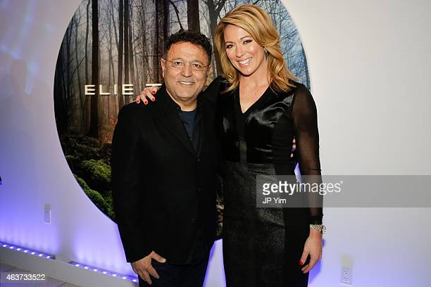 Designer Elie Tahari and CNN correspondent Brooke Baldwin attend the Elie Tahari presentation during MercedesBenz Fashion Week Fall 2015 at 510 Fifth...