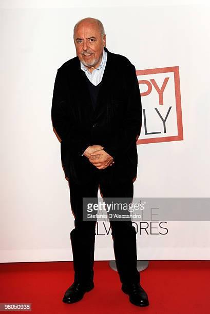 Designer Elio Fiorucci attend 'Happy Family' Milan Premiere held at Cinema Apollo on March 25 2010 in Milan Italy