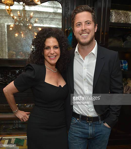Designer Elisabeth Weinstock and event cohost Harry Morton attend the opening of the Elisabeth Weinstock store on April 3 2013 in Los Angeles...