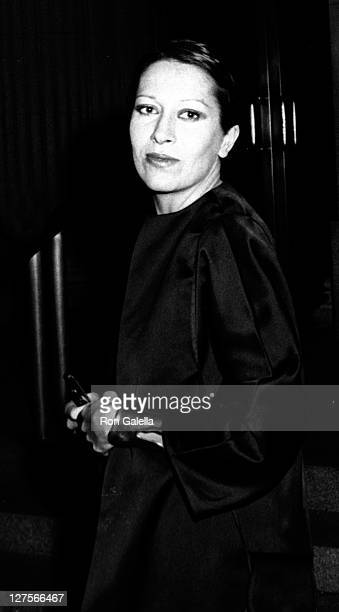 "Designer Elsa Peretti attends Metropolitan Museum of Art Costume Exhibit ""Gold Show"" on December 12, 1973 at the Metropolitan Museum of Art in New..."