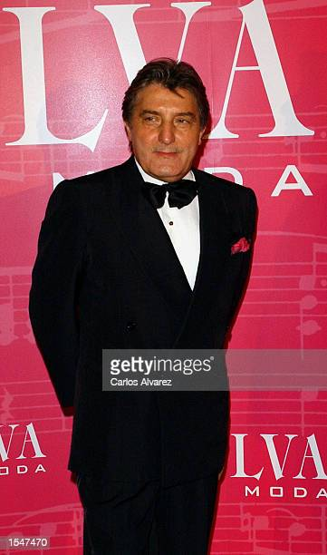 Designer Emanuel Ungaro attends the Magazine Telva Awards at the Palace Hotel October 28 2002 in Madrid Spain