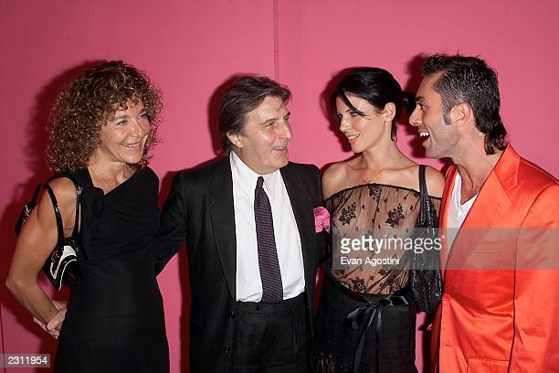 Designer Emanuel Ungaro with his wife Laura and Giambattista Valli with Liberty Rose arrive for the Ungaro 35th anniversary fashion party...