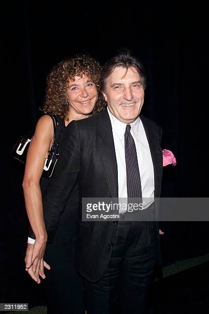 Designer Emanuel Ungaro with his wife Laura arrive for his 35th anniversary fashion party extravaganza at the Armory in New York City 9/5/2001 Photo...
