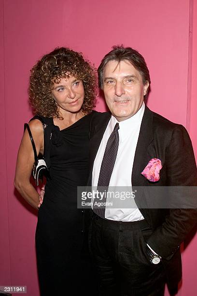 Designer Emanuel Ungaro with his wife Laura arrive for the Ungaro 35th anniversary fashion party extravaganza at the Armory in New York City 9/5/2001...
