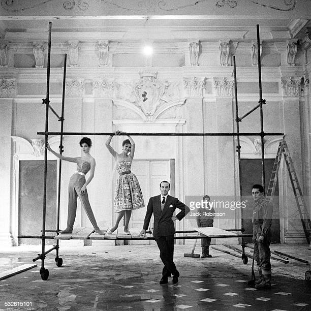 Designer Emilio Pucci and his models, 20th century.