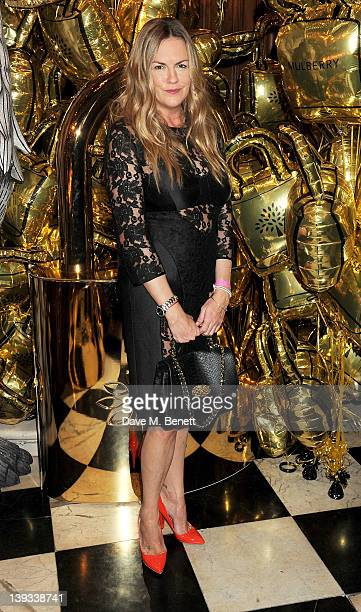 Designer Emma Hill attends a dinner following the Mulberry Autumn/Winter 2012 show during London Fashion Week at The Savile Club on February 19 2012...