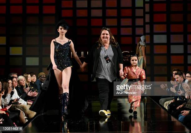 Designer Eni Hegedus Buiron and models walk the runway during Lulu Et Gigi At New York Fashion Week Powered By Art Hearts Fashion NYFW 2020 at The...