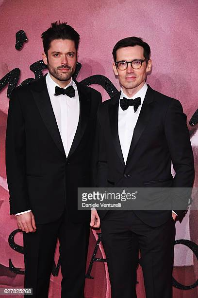 Designer Erdem Moralioglu and guest attends The Fashion Awards 2016 on December 5 2016 in London United Kingdom
