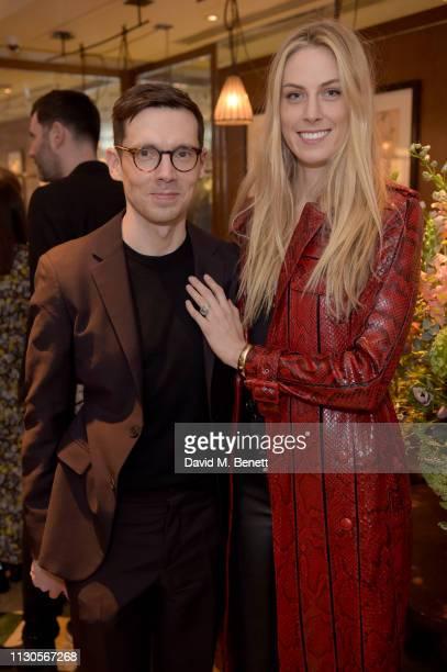 Designer Erdem Moralioglu and Selby Drummond attend the official Erdem London Fashion Week dinner at J Sheekey Atlantic Bar on February 18 2019 in...