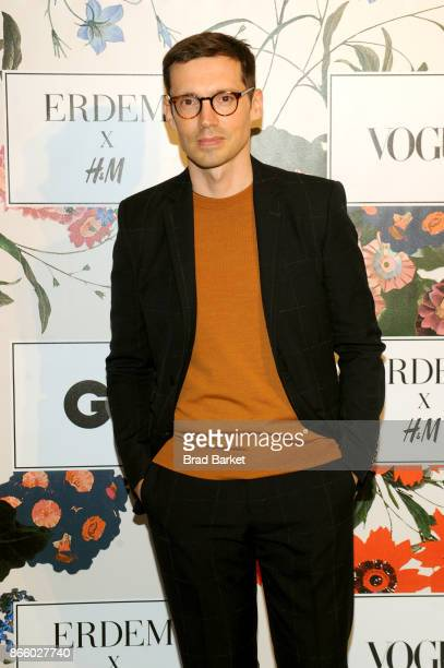 Designer Erdem Moralioglu attends the ERDEM X HM Exclusive Event at HM Flagship Fifth Avenue Store on October 24 2017 in New York City