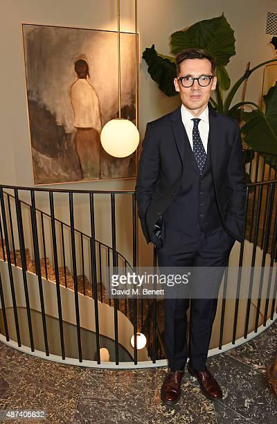 Designer Erdem Moralioglu attends the launch of the first Erdem flagship store on September 9 2015 in London England