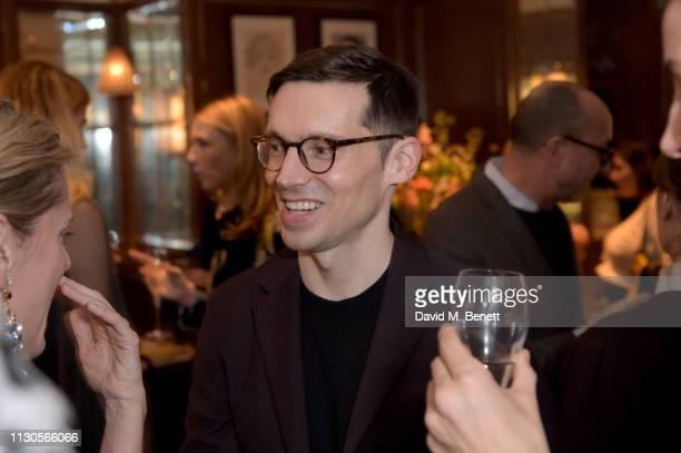 Designer Erdem Moralioglu attends the official Erdem London Fashion Week dinner at J Sheekey Atlantic Bar on February 18 2019 in London England