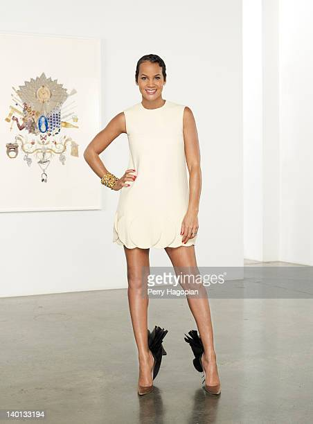 Designer Erica Reid poses for a portrait session for Town Country Magazine on May 11 in New York City