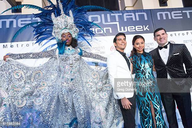 Designer Erick Bendana Models and Eduardo Khawam Producer Director of Metropolitan Fashion Week arrive at the Metropolitan Fashion Week 2016 Closing...