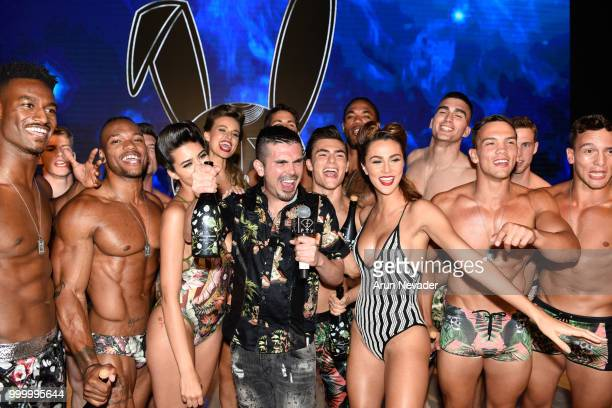 Designer Erik Rosete and models attend Miami Swim Week powered by Art Hearts Fashion Swim/Resort 2018/19 at Faena Forum on July 15 2018 in Miami...