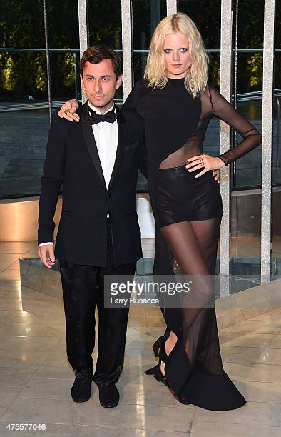 Designer Esteban Cortazar and model Hanne Gaby Odiele attends the 2015 CFDA Fashion Awards at Alice Tully Hall at Lincoln Center on June 1, 2015 in...