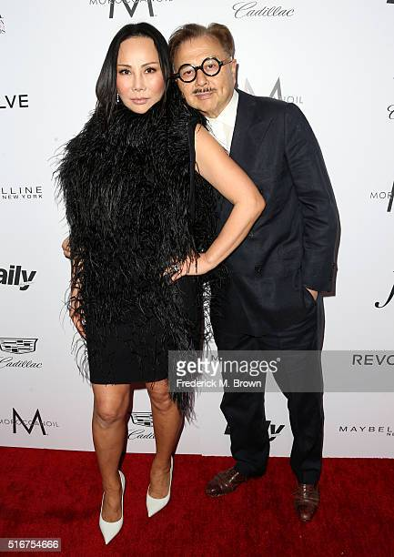 designer Eva Chow and restaurateur Michael Chow attends the Daily Front Row 'Fashion Los Angeles Awards' at Sunset Tower Hotel on March 20 2016 in...