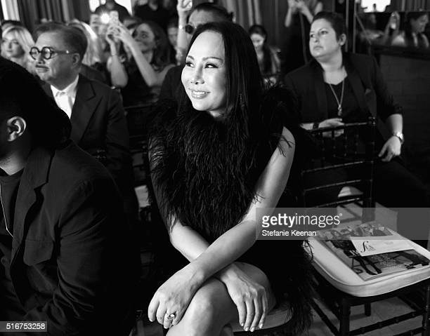 EXCLUSIVE COVERAGE Designer Eva Chow in the audience during The Daily Front Row 'Fashion Los Angeles Awards' 2016 at Sunset Tower Hotel on March 20...