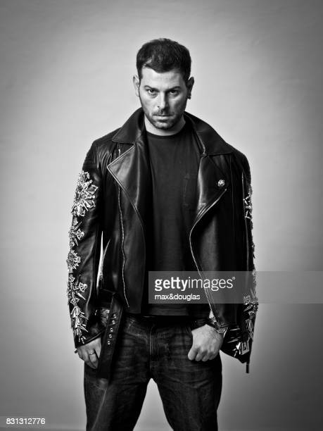 Designer Fausto Puglisi is photographed for Self Assignment on Februray 20 2013 in Milan Italy