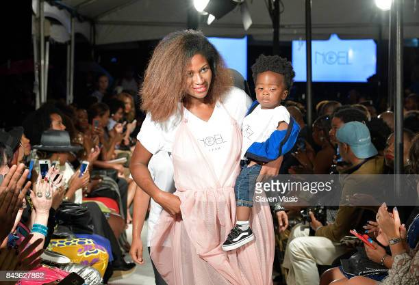 Designer Fe Noel walks the runway at Fe Noel fashion show a part of Harlem's Fashion Row during New York Fashion Week at La Marina Restaurant Bar...