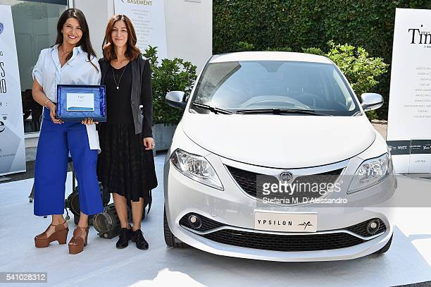 Designer Federica Tosi and Antonella Bruno attend Lancia Time Award Ceremony during Milan Men's Fashion Week SS17 on June 18 2016 in Milan Italy