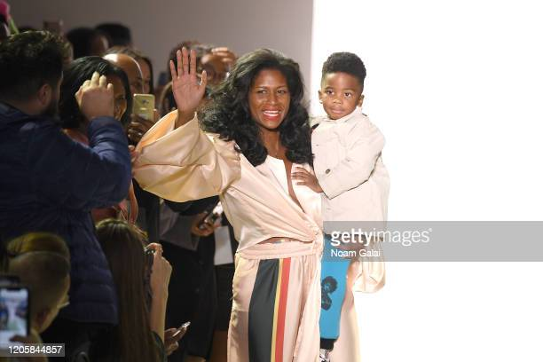 Designer Felicia Noel walks the runway for Fe Noel during New York Fashion Week The Shows at Gallery II at Spring Studios on February 12 2020 in New...