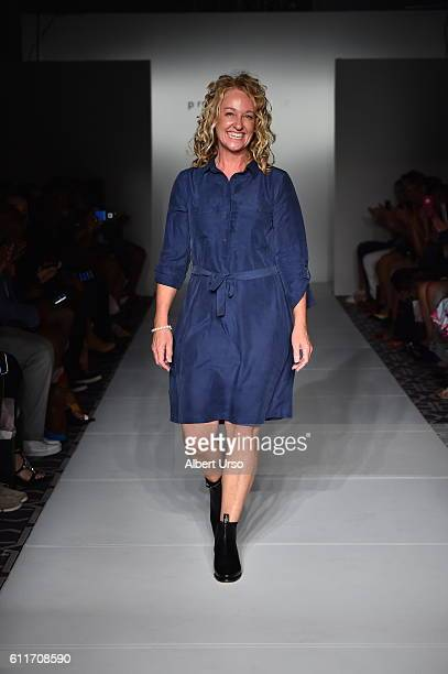 Designer Felicity walks the runway during Hats by Felicity at the PretAPorter show during New York Fashion Week September 2016 on September 11 2016...