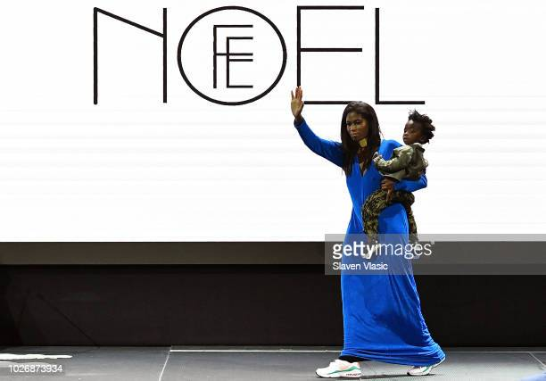 Designer Felisha Noel walks the runway at Fe Noel fashion show during New York Fahion Week at Capitale on September 4 2018 in New York City