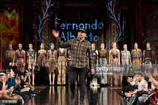 Designer Fernando Alberto walks the runway during the Fernando Alberto Atelier presentation finale at New York Fashion Week Powered by Art Hearts...