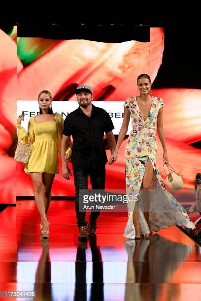 Designer Fernando Alberto, Yilena Hernandez and Tamara Milicevic walk the runway during FERNANDO ALBERTO ATELIER At New York Fashion Week Powered by...