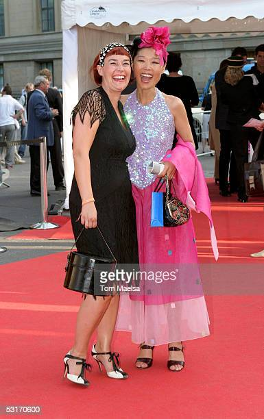 Designer Fiona Bennet and Moon Suk attend the ZDF Television Summer Party June 29 2005 in Berlin Germany