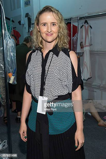 Designer Flora Gill attends the Ohne Titel show during Spring 2016 New York Fashion Week The Shows at The Gallery Skylight at Clarkson Sq on...