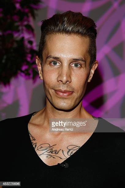 Designer Florian Wess attends the GarconF fashion show at BalloniHallen on August 5 2014 in Cologne Germany