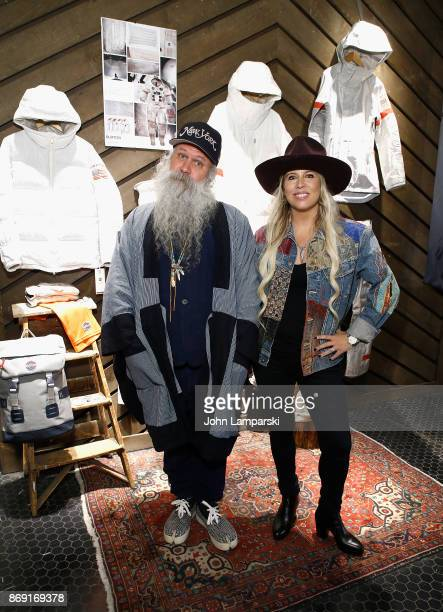 Designer for Burton Greg Dacyshyn and chief marketing officer Anne Marie Dacyshyn attend 2018 Olympic US Snowboard Team Uniform Unveil on November 1...