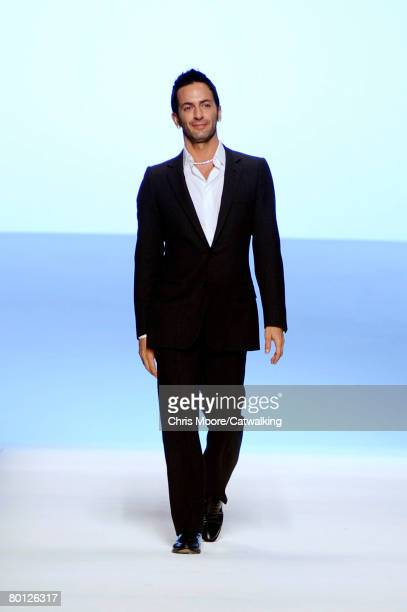 Designer for Louis Vuitton Marc Jacobs walks the runway during the Louis Vuitton Fall/Winter 2008/2009 collection during Paris Fashion Week on the...