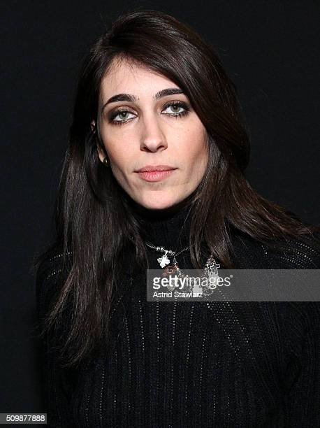 Designer Francesca Liberatore poses backstage at the Francesca Liberatore Fall 2016 fashion show during New York Fashion Week The Shows at The Dock...