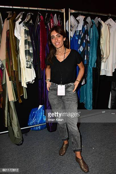 Designer Francesca Liberatore poses backstage just before the start of the Francesca Liberatore show during September 2016 New York Fashion Week The...